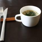 カフェ 洗濯船 - スープのお味噌汁