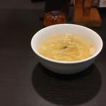 中華料理 桃源 - とろみのある玉子スープ 有名な中華ファミレスみたいなジャンク感のない上品なお味です