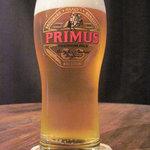 ドールドレス - 生ビールはプリムス♪ピルスナーで飲みやすかった