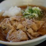 信州そば処 そば茶屋 - 冷やし肉おろしそば700円