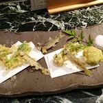 魚貝三昧 げん屋 - 天ぷら盛り合わせ