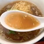中華飯店ジャン - 半ラーメンのスープ