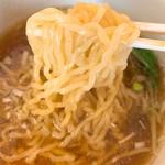 中華飯店ジャン - 半ラーメンの麺