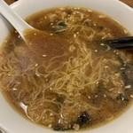 青山麺飯坊 - とろろ混ぜ状態