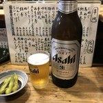 まいど - 瓶ビール。アサヒスーパードライ大。
