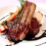 オーストラリア産 子羊肉のロースト 赤ワインソース