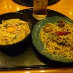10604220 - Cセット(カルボナーラ炭焼人風+ボンゴレ・ビアンコ)