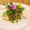 オステリア セルヴァジーナ - 料理写真:野草サラダと鴨猪のパテ、ヨモギのフォカッチャ
