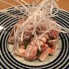 錦家 - 料理写真:むね霜降りの梅わさび和え