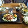 きらく - 料理写真:ランチサービスステーキ!大サービスランチセットですね。