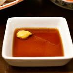 三度の飯より餃子好き - 【元祖焼餃子 から揚げ定食@704円】元祖焼餃子】から揚げのタレ
