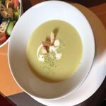 ビストロ カノン - グリンピースのポタージュスープ