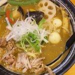 麺家 一心 - スープカレーそば 800円