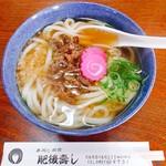 肥後寿し - 料理写真:地鶏うどん 648円
