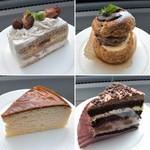 106082723 - ミルキーマロン パリブレストイチゴ&バナナ                       昔ながらのチーズケーキ キャラメルバナナ