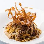 イタリア食堂 クッチーナ - 十勝ハーブ牛とゴボウを使った贅沢ミートソース