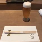 鮨 くま - 生ビール!