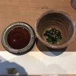 鮨 くま - アスパラ菜のお浸し!
