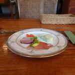 杜の小路 - 料理写真:本日の前菜盛り合せ