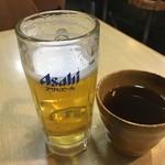 仙豆 - 生ビール&お茶