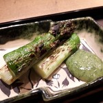 Jushuu - アスパラガスと木の芽味噌