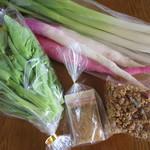 タンジョウ ファーム キッチン - 九条ネギ、カブ、白菜の花