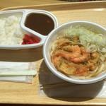 ハーフタイム - 料理写真:Jカレー&かき揚げうどん