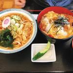 丼亭 - カツ丼420円とタネキうどん 270円  計690円!