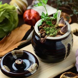 植木鉢ミニパフェ
