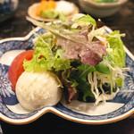 定食あさひ - 単品サラダ(250円)