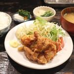 定食あさひ - つくば鶏のからあげ定食(850円)