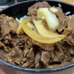 十八番 - パサパサ牛丼