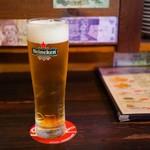 CAFE&BAR AMERICANO - 生ビール(ハイネケン)