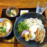 自家製麺 うどん日和 - 料理写真:ぶっかけうどん+ミニカツ丼