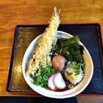 自家製麺 うどん日和 - 黒米ぶっかけうどん