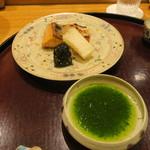 日本料理 太月 - 大船渡サクラマス炭火焼 木の芽酢