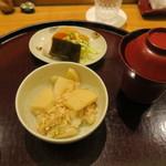 日本料理 太月 - ご飯、味噌汁、お新香