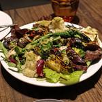 RODEO & Cafe - 焼き野菜サラダ サルサヴェルデ ソースで