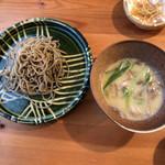 石臼挽き手打蕎麦 むら木 - イベリコ豚つけ汁(白みそ) 1,500円