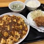 中国料理 来来 - 麻婆豆腐あんかけそばセット通常800円→500円