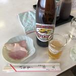 源氏食堂 - 瓶ビールとお通し