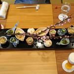 柚木元 - 山菜の盛合せ