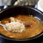 韓国料理・焼肉 きんちゃん - ライスをくぐらせて