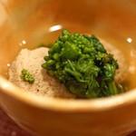 味感 ことほぎ - 大阪湾の鰯のつみれと花山椒と菜の花