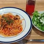 タヴェルナ・エ・ピッツェリア サルーテ - Taverna e Pizzeria Salute @東葛西 週替わりランチセット 税込980円 銚子産イワシのトマトソースパスタを選んで