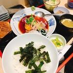 大衆割烹 まさ味 - あと乗せ海鮮丼 ¥1050