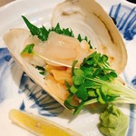 大衆割烹 まさ味 - みる貝刺身 ¥880