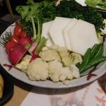 魚と酒はなたれ - 地野菜盛(大)