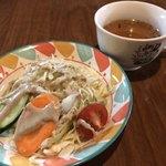 インドカレー TULSI - ランチのサラダ&スープ