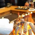 柳家 - 鴨と葱の串焼き